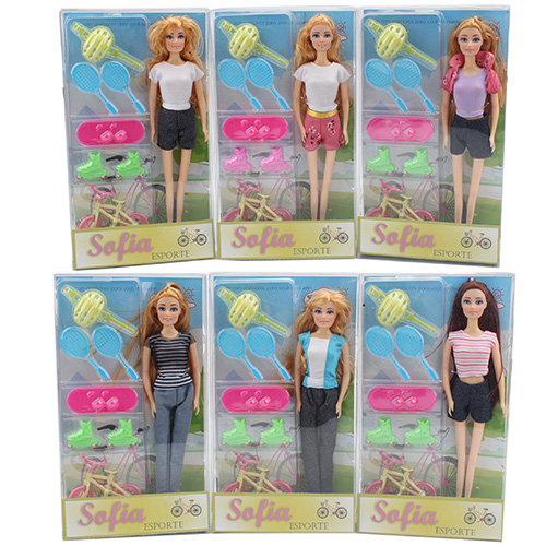11.5 inch fashion doll with sport accessories